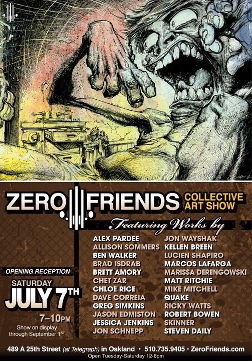 zero friends collective art show color ink book
