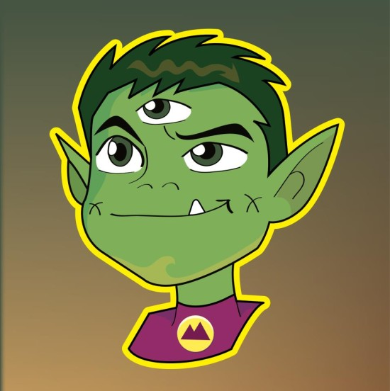 colby sunshine color ink book beastboy